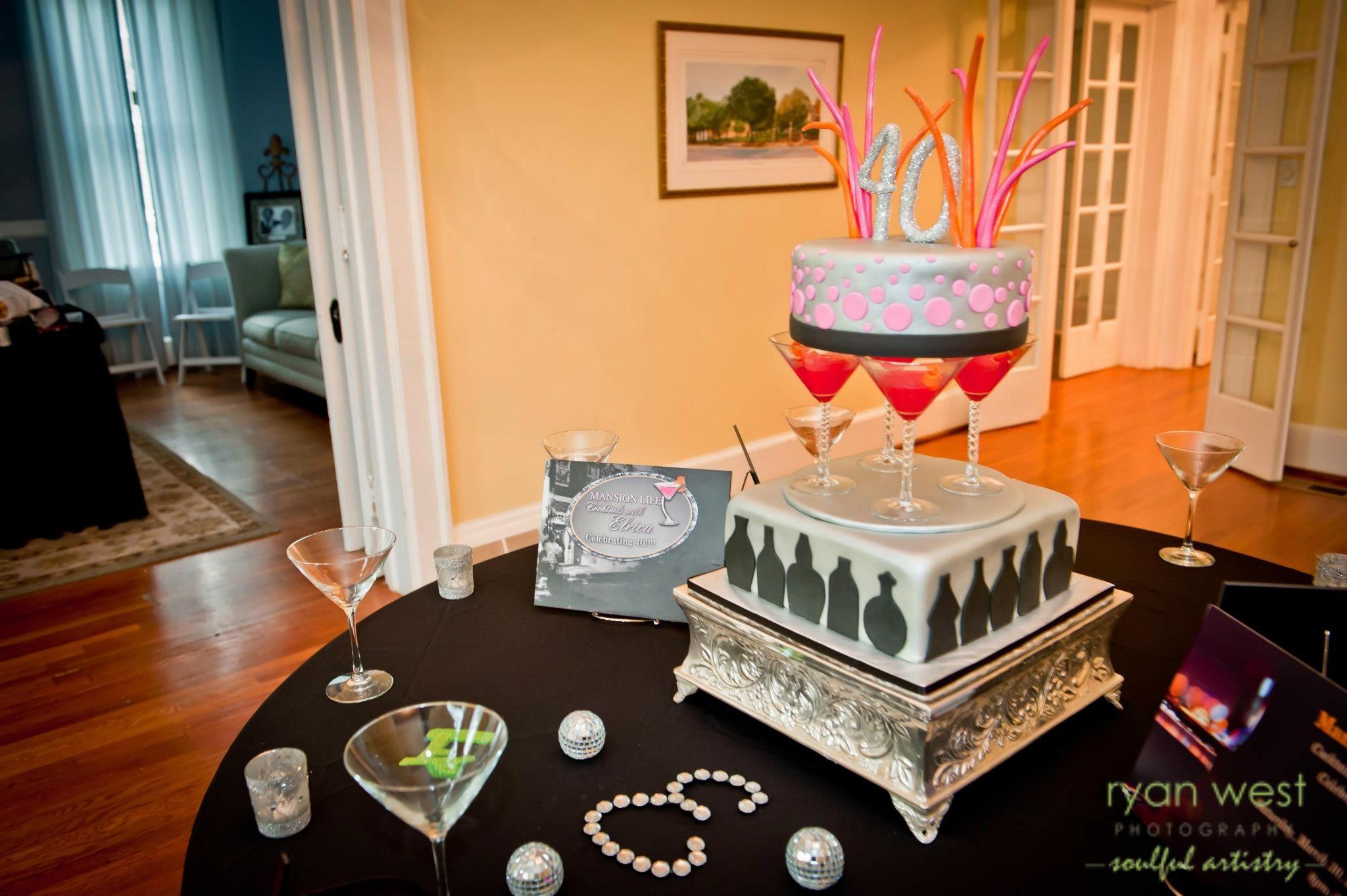 40th birthday cake cocktail theme iz good bakery 40th
