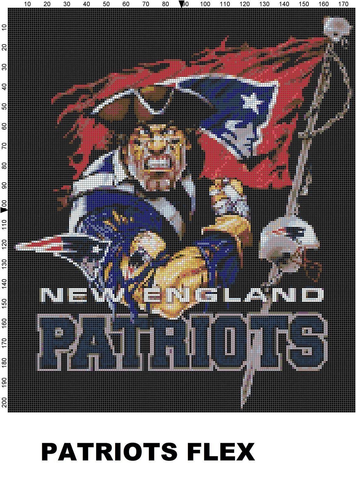 Nfl New England Patriots Mascot Cross Stitch Pattern New England Patriots New England Patriots Football Patriots Football