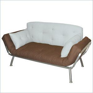 Twin Futon With Silver Metal Frame