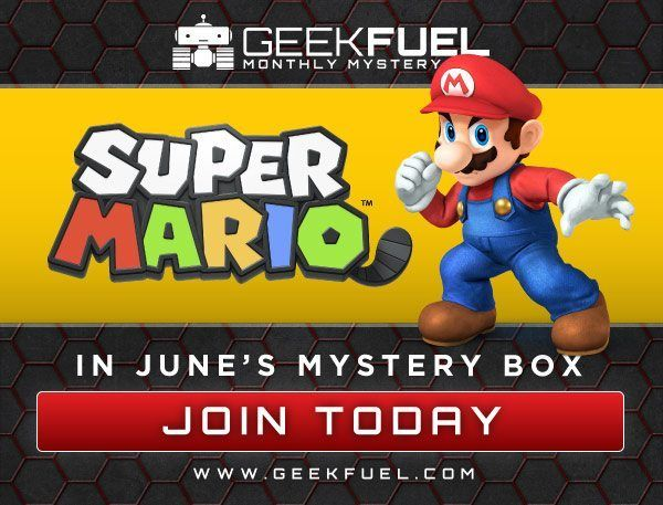 May's Geek Fuel has SOLD OUT! Get your first look into June's mystery geek boxes! Super Mario, Sherlock & more! http://www.findsubscriptionboxes.com/geek-fuel-june-2016-box-spoilers/?utm_campaign=coschedule&utm_source=pinterest&utm_medium=Find%20Subscription%20Boxes&utm_content=Geek%20Fuel%20June%202016%20Box%20Spoilers%20%2B%20Free%20Star%20Wars%20Gift