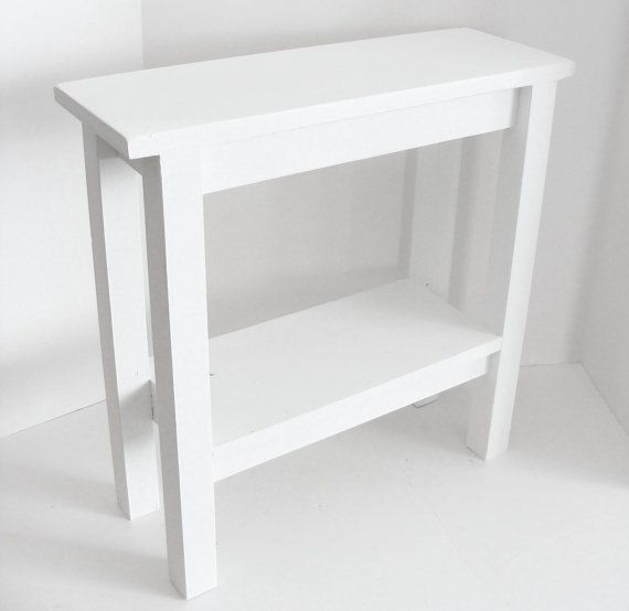 Modern Narrow End Table For Your Home Or Beach Place Painted White