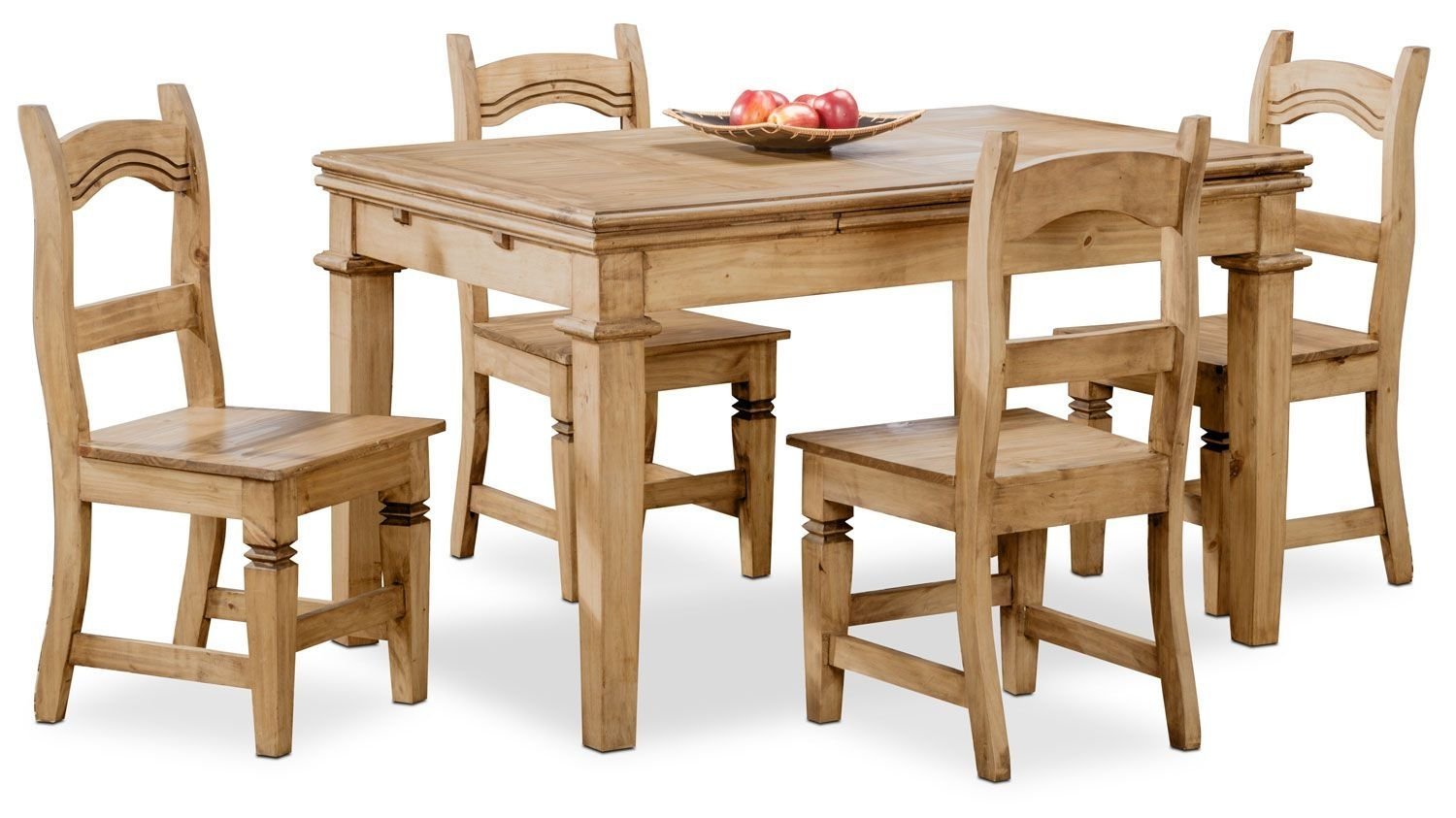 Santa Fe Rusticos 5 Piece Dining Package Durable Furniture Rustic Wood Furniture Pine Dining Chairs