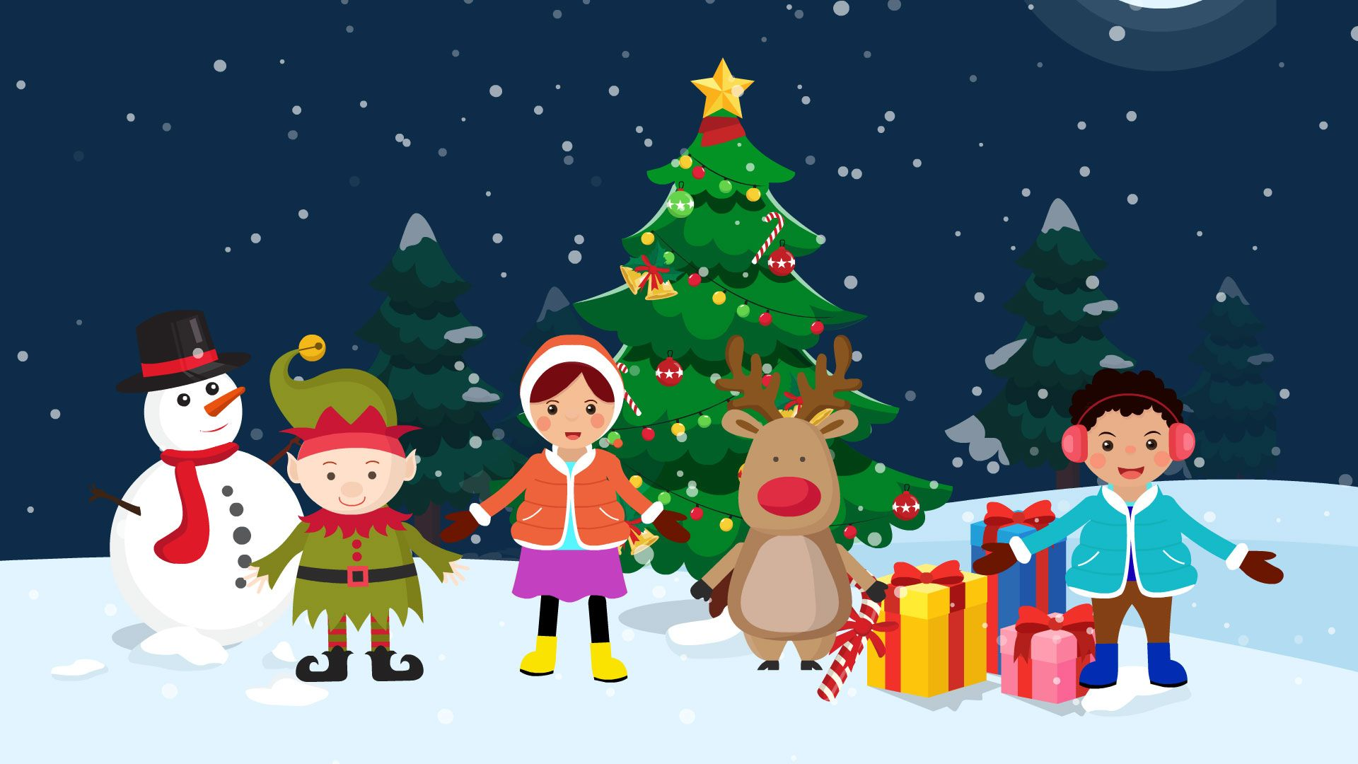 New Year And Christmas Cartoon And Song For Children Kids Songs Christmas Cartoons New Year Cartoon