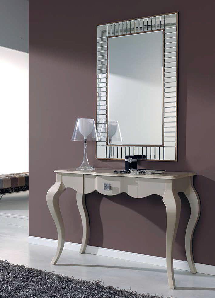 Recibidor con espejo y consola 294 ar5 muebles for Espejo redondo recibidor