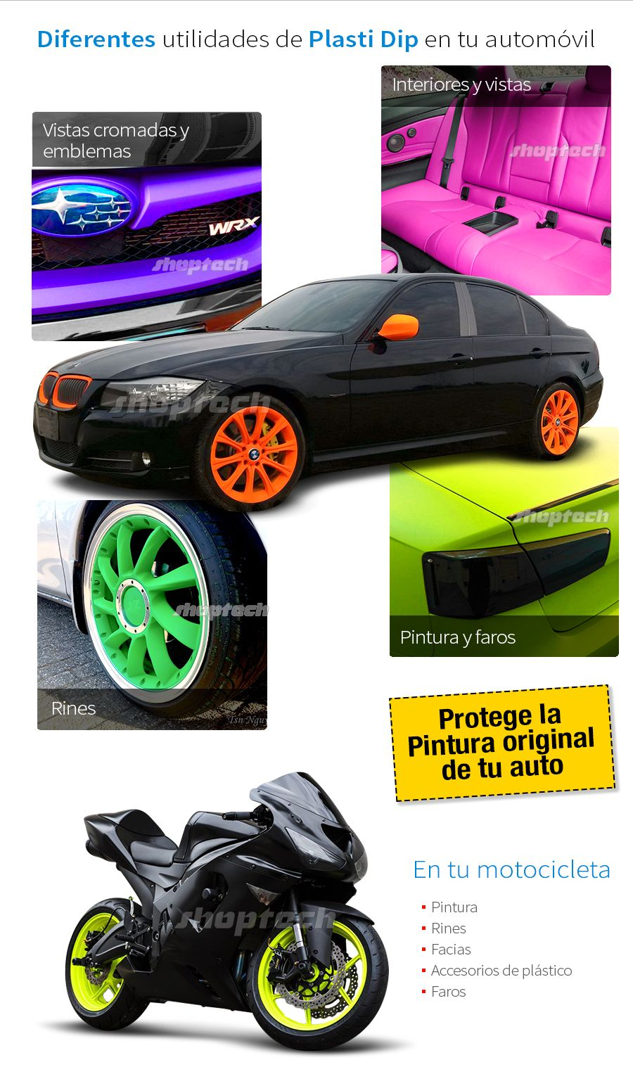 Plasti Dip Pintura Plastica Aerosol Autos Rines Motos Neon 249 00 Pintura Para Autos Pintura Para Plastico Autos
