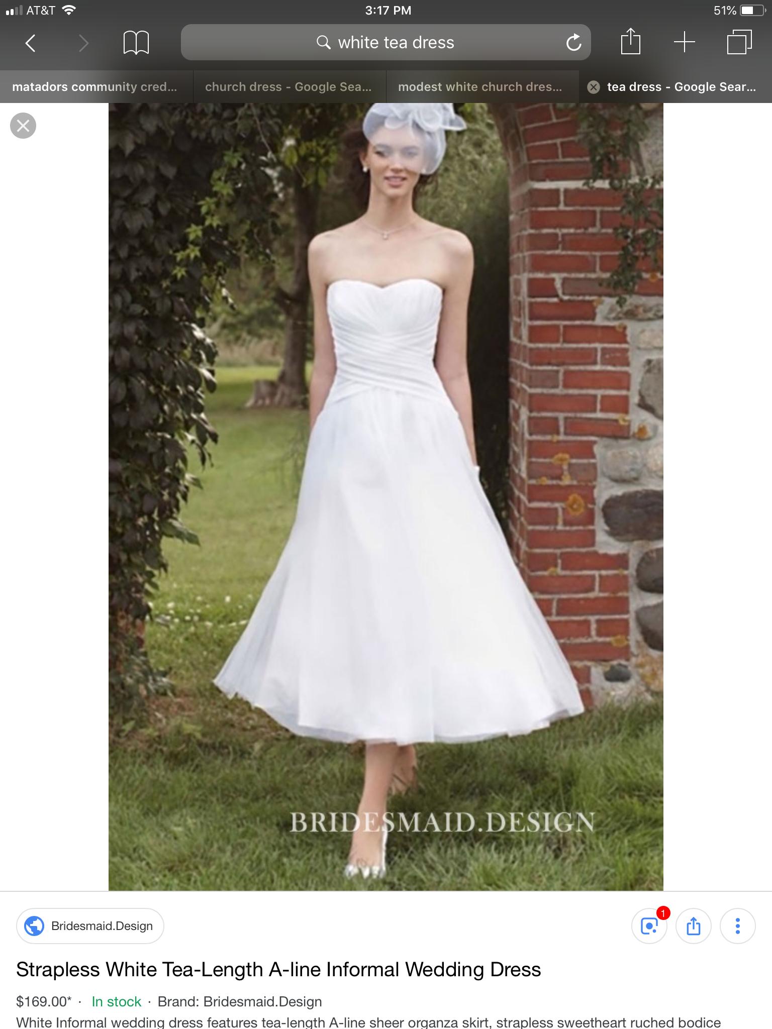 Pin By Puttelprincess On Shop Tea Length Wedding Dress Retro