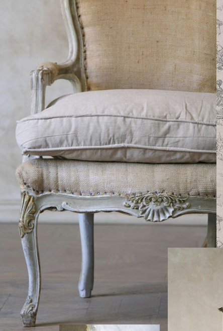 burlap furniture. french chair burlap canvas linen furniture