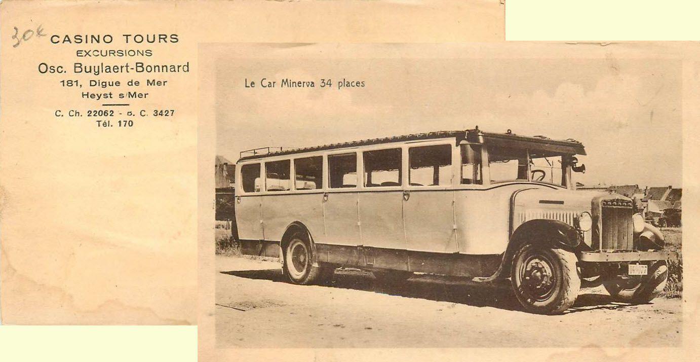 Casino Tours Heist aan Zee, Minerva autocar, autobus