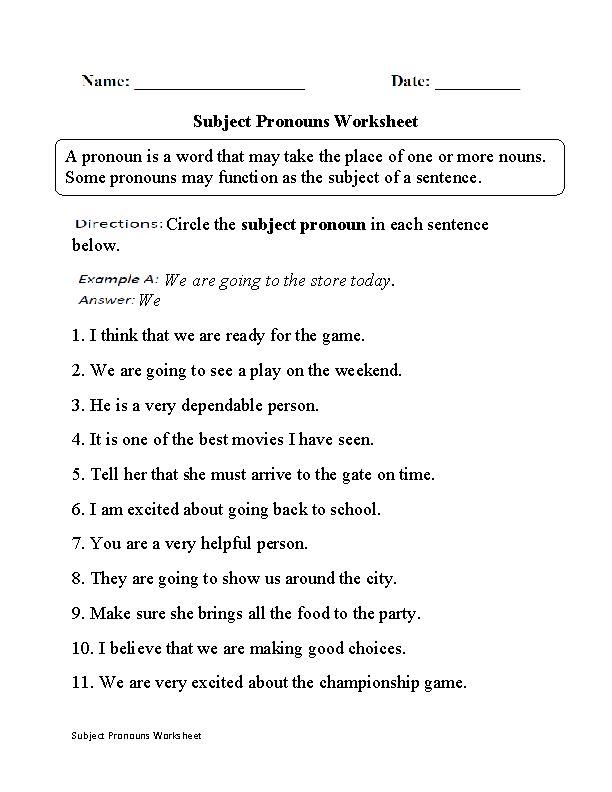 subject pronouns worksheet part 1 board pinterest pronoun worksheets. Black Bedroom Furniture Sets. Home Design Ideas