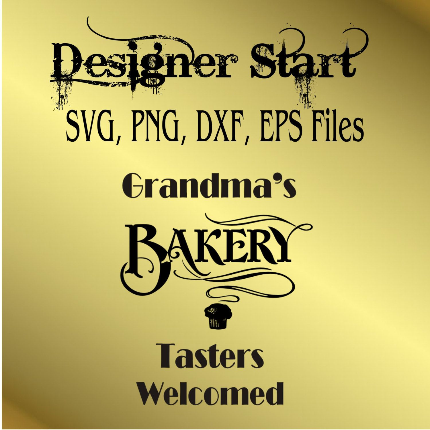 Grandmas Bakery PNG svg cutting file clipart wall decor silhouette ...