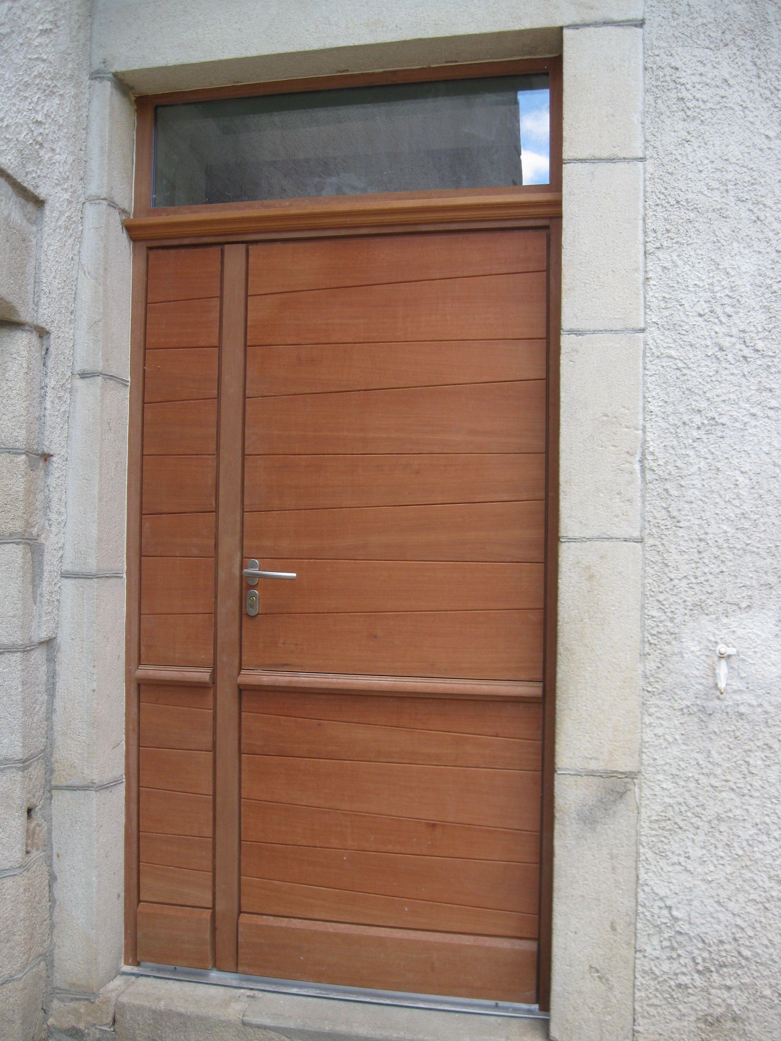 Porte d 39 entr e tierc e avec lames biseaut es imposte vitr e portes d 39 entree portes entr e - Imposte pour porte d entree ...