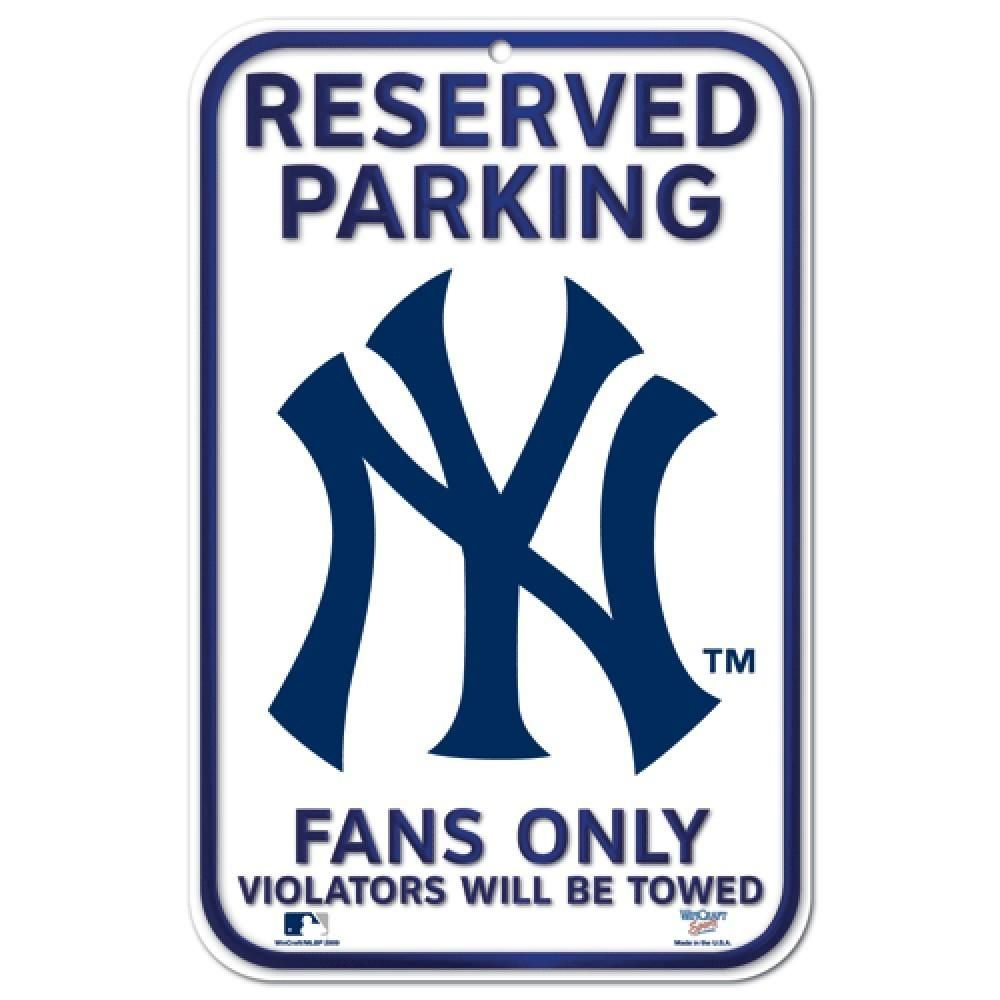 New York Yankees 11 X17 Reserved Parking Plastic Sign New York Yankees Ny Yankees Sports Signs