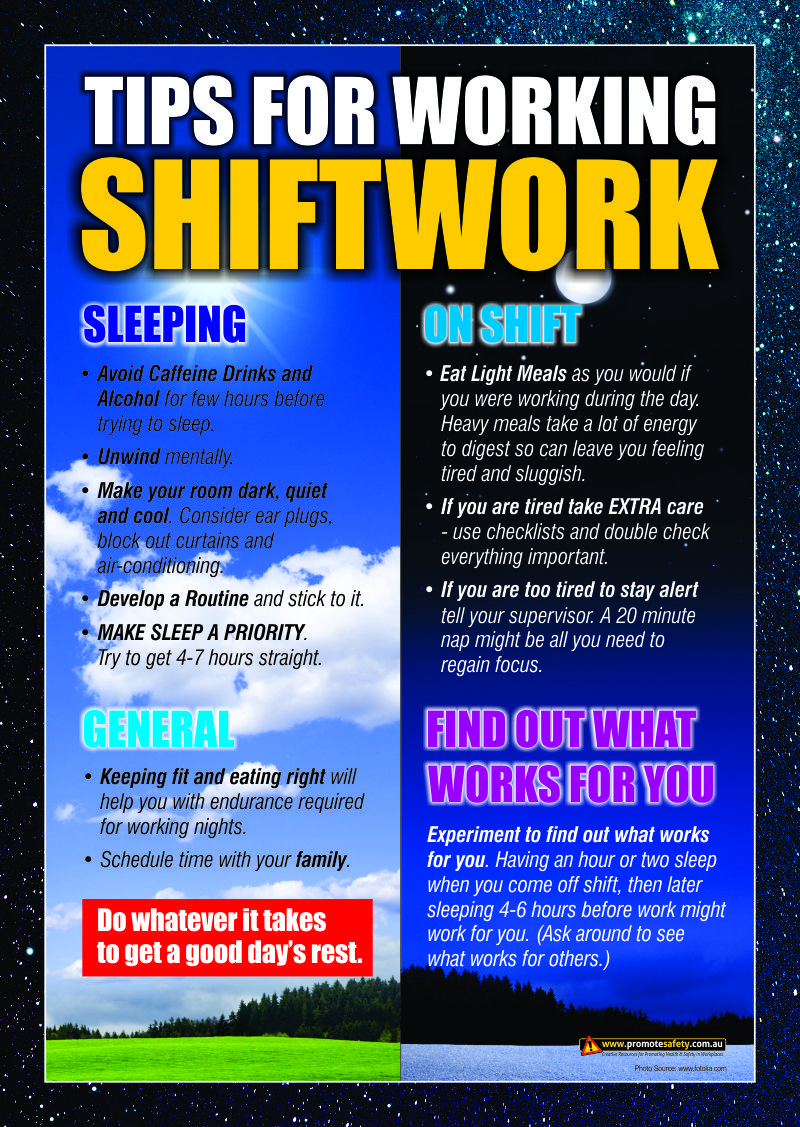 Workplace Health & Safety Poster with tips for workers for ...