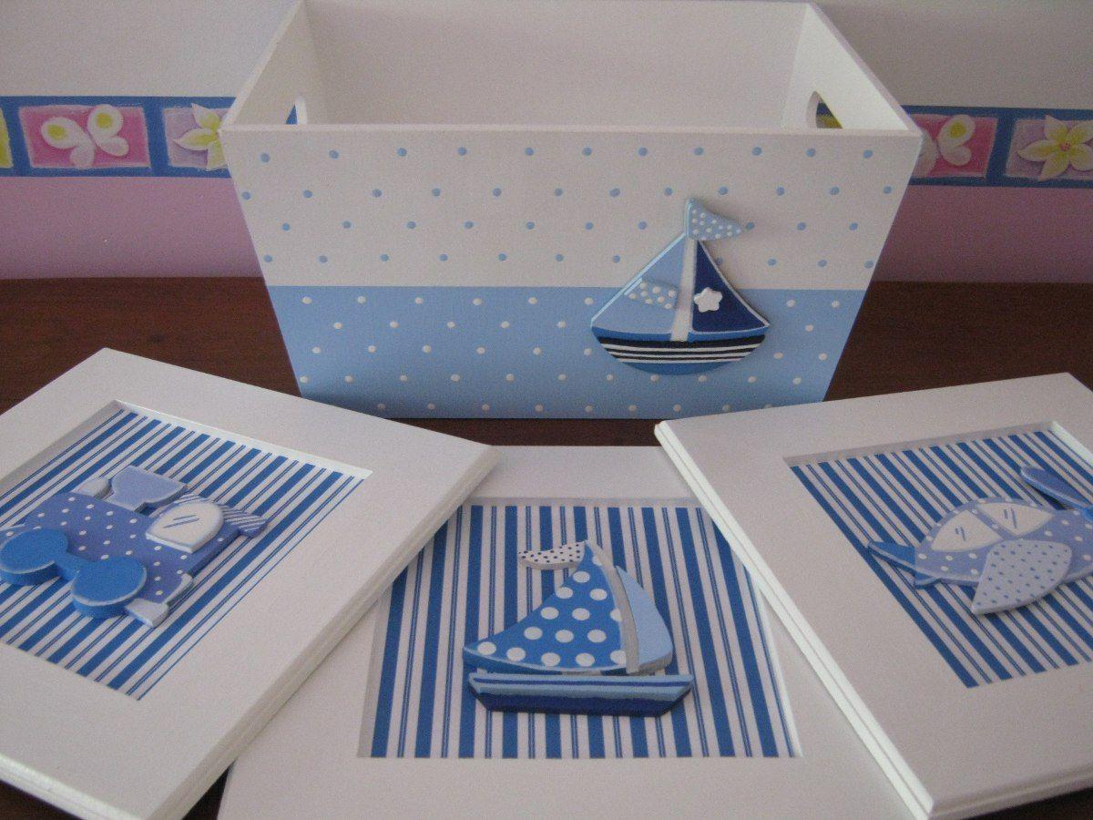 Cajas decordasen decoupage para bebes varones buscar con - Cajas decoradas para bebes ...