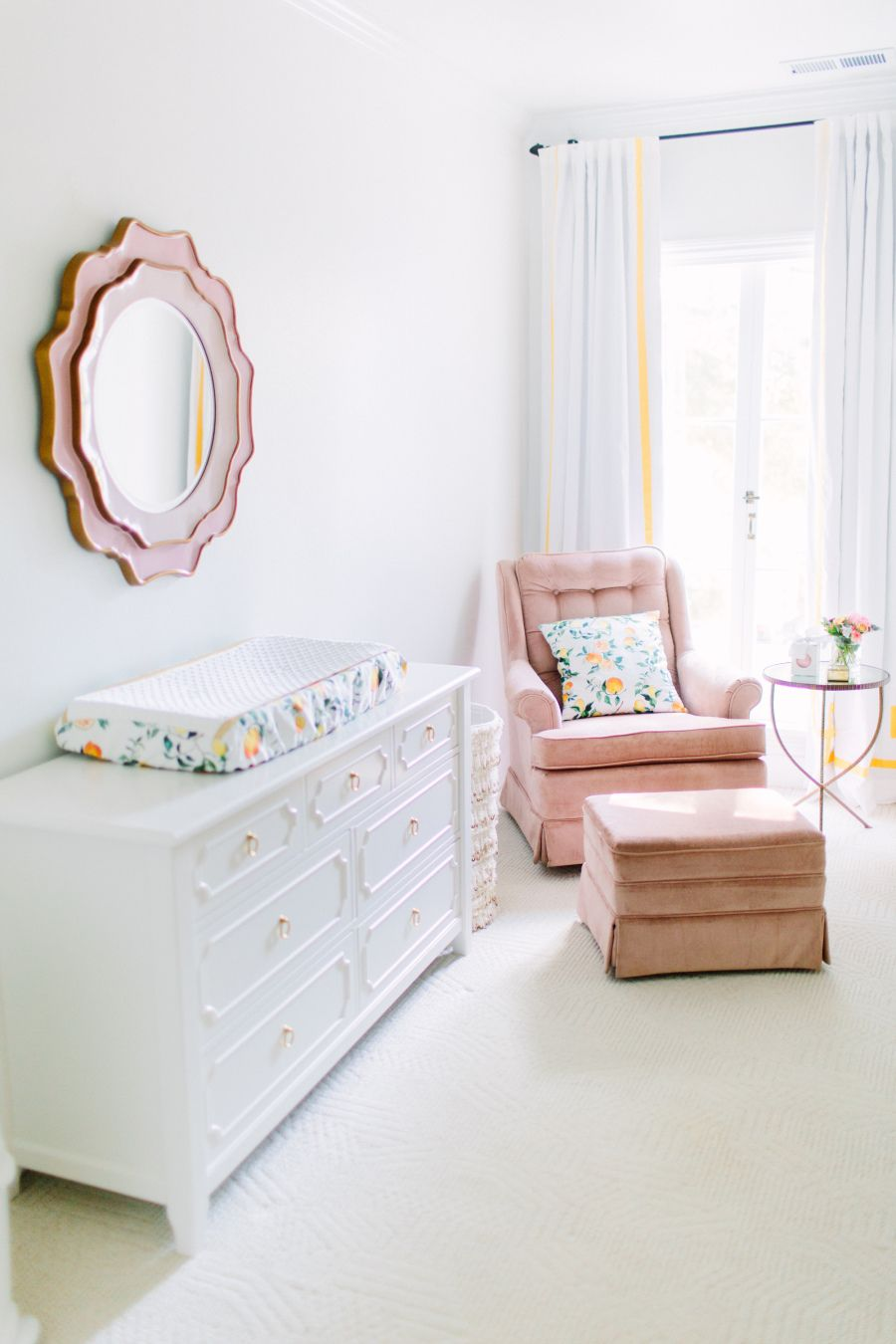 Sophisticated Sweet Nursery + Designer Tips to Stay on Budget: Photography: Meg Perotti - http://www.megperotti.com/