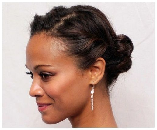 Cute Updos For Short Hair African American Hair Pinterest Short Hair Updo Braided Updo For Short Hair African American Hairstyles