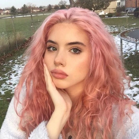 Lace Frontal Wigs Pink Best Hair Color For Fair Skin With Pink Undertones For Women In 2020 Cool Hair Color Aesthetic Hair Hair Color For Fair Skin
