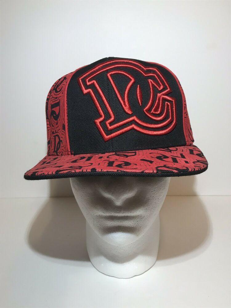 efe8dec6 Washington DC Fitted Hat Ultimate City Hunter Baseball Cap Sz L Large Red  Black | eBay