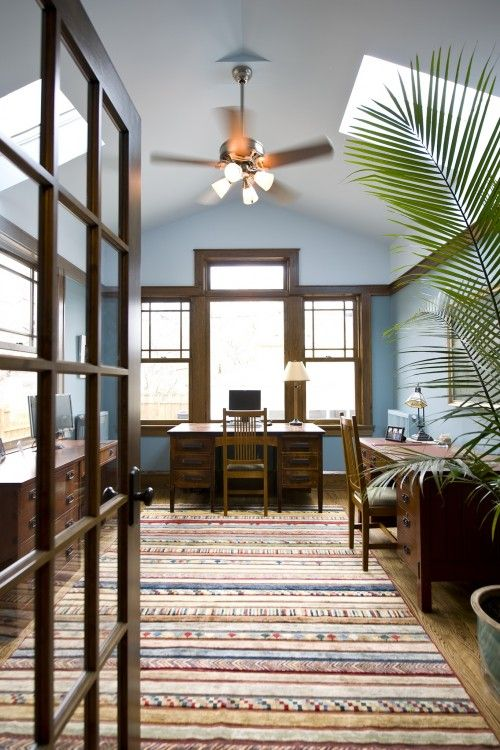 Traditional Home Office Design Ideas Pictures Remodel And Decor Dark Wood Trim Painting Wood Trim Wood Trim