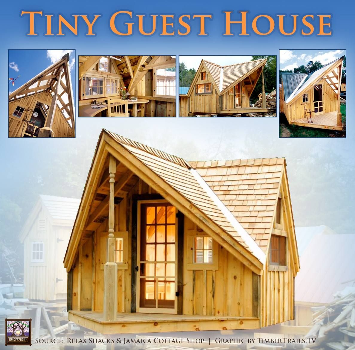 Tiny guest house timber trails provides custom cabin for Sip panel kit homes