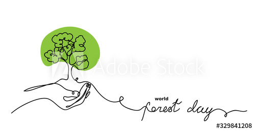 More than 85,000 cincinnati community trees save residents $4.8 million. World Forest Day Vector Sketch Background Green Tree In Hand Concept One Continuous Line Drawing Doodle Continuous Line Drawing Vector Sketch Line Drawing