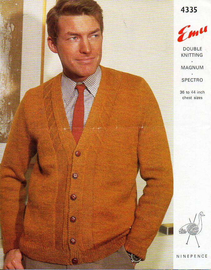 03e343bf43fffc mens knitting pattern pdf DK or Chunky mens cardigan v neck jacket Vintage  60s 36-44 DK 8ply 12ply chunky bulky Instant Download by coutureknitcrochet  on ...