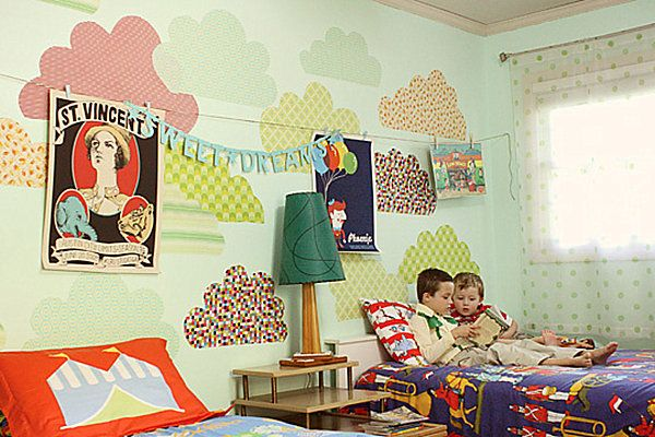 15 Boy And Girl Shared Room Design Ideas: Shared Boys Bedroom With Twin Beds