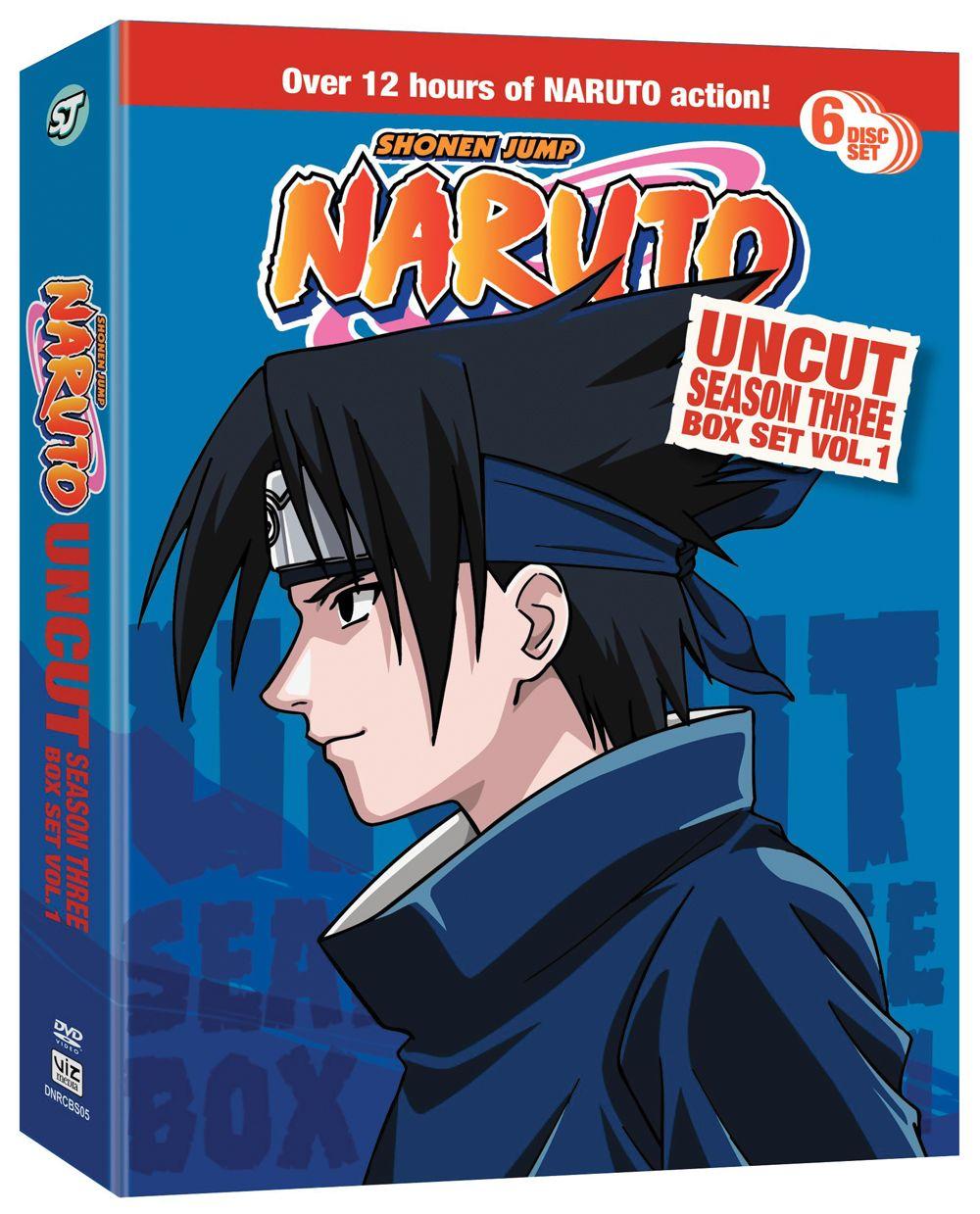 Naruto dvd season 3 box set 1 hyb uncut rightstuf2014