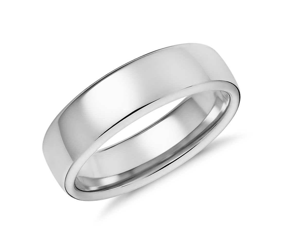 Men S Modern Comfort Fit Wedding Ring Mens 6 5mm Wide Etsy White Gold Wedding Rings Mens Wedding Bands White Gold White Gold Wedding Bands