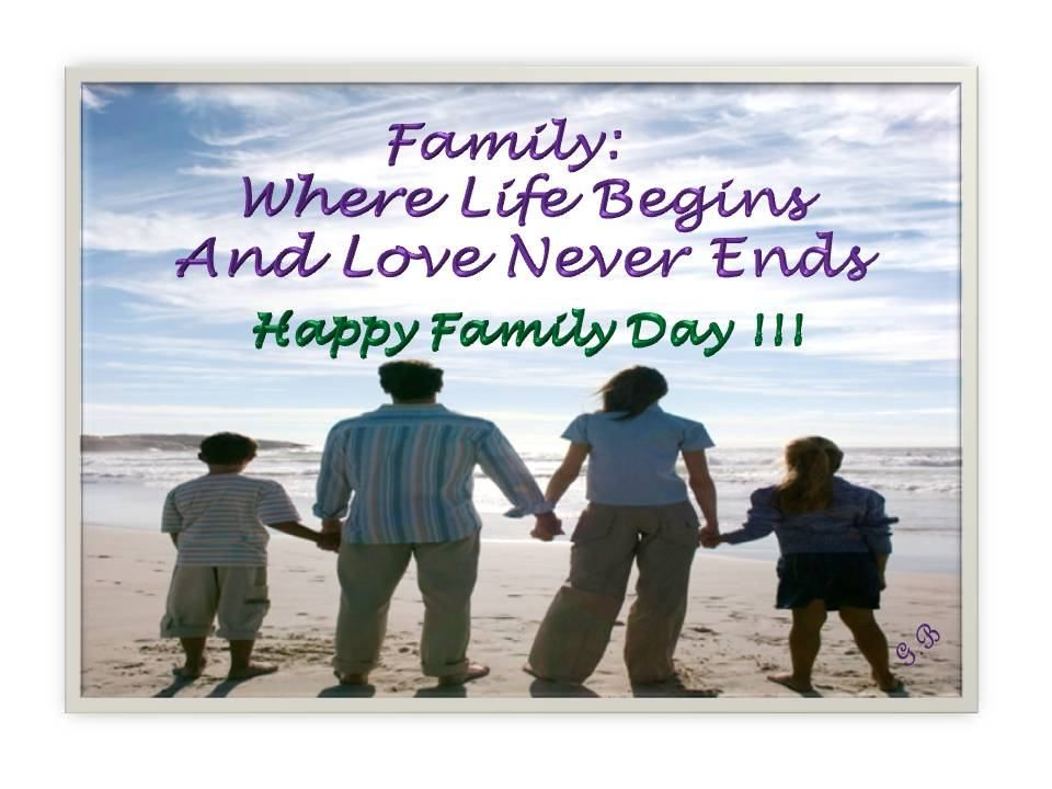Happy Family Day Family quotes, Family day, Message card