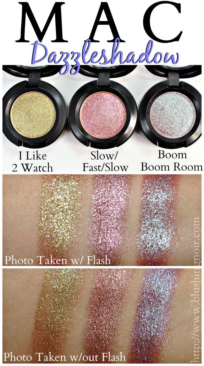 MAC Dazzleshadow Eyeshadow Swatches Mac makeup