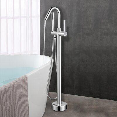 Vanity Art Single Handle Floor Mounted Freestanding Tub Filler