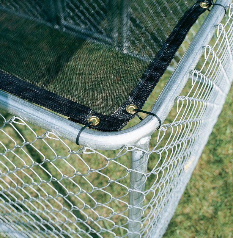 Derek Steel Chain Link Portable Yard Kennel In 2020 Dog Run Side Yard Steel Chain Metal Roof