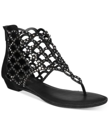 ZiGi Soho Melaa Caged Flat Thong Sandals Black 9.5M