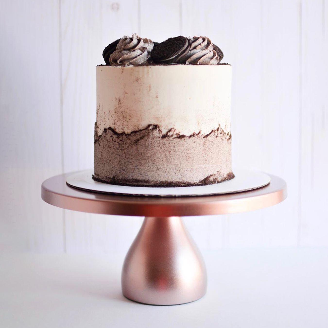 12 Inch Round Modern Metal Wedding Cake Stand Rose Gold In 2020