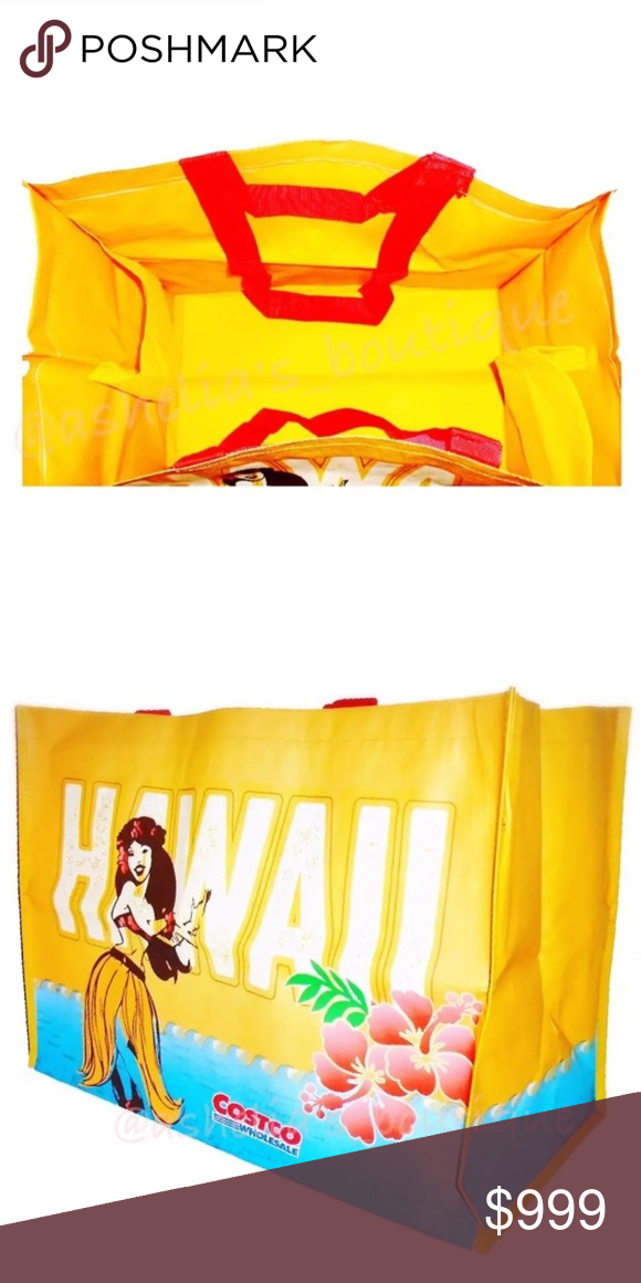 18ab7b411184 New~ Hawaii Hula Girl Reusable Tote Bag Costco COSTCO REUSABLE BAG Rare  Discontinued Design 🌺WHILE SUPPLIES LAST🌺 Condition  New Product Detail   1 XL Bag ...