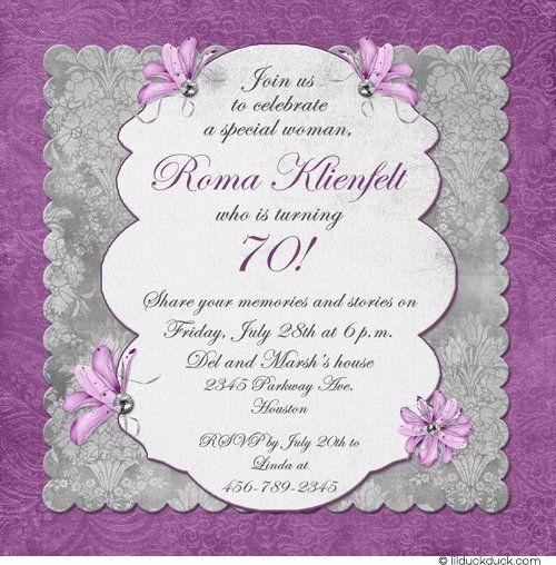 85th birthday invitation sample wording