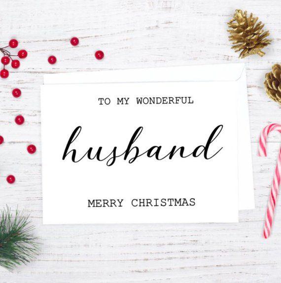 To My Wonderful Husband Merry Christmas Card Christmas Card For Him Christmas Card For Husband Christmas Card For Hubby
