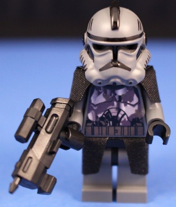 Lego® Star Wars™ Custom Gray Camouflage Elite Clone Commando DC 17M Blaster | eBay