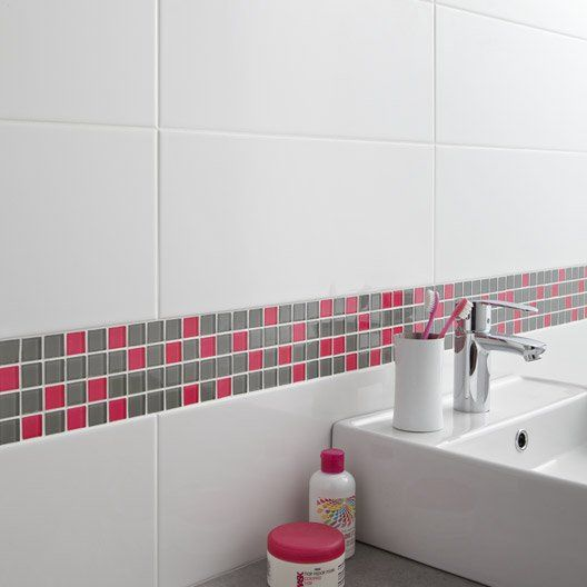 Faïence mur blanc-blanc n°0, Loft brillant l20 x L502 cm salle