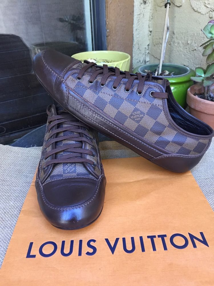 47eeb9a78aae AUTH LOUIS VUITTON MENS SHOES SNEAKERS DAMIER US SIZE 10 MADE IN ITALY   fashion  clothing  shoes  accessories  mensshoes  casualshoes (ebay link)