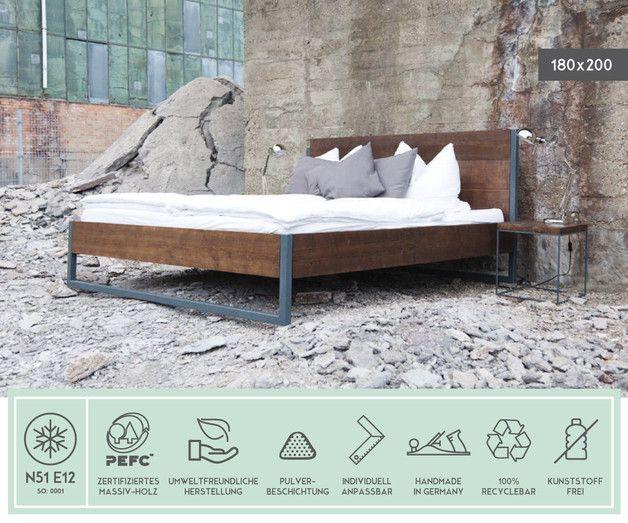original massivholz bett made in n51e12 made in germany designklassiker inspiriert vom. Black Bedroom Furniture Sets. Home Design Ideas