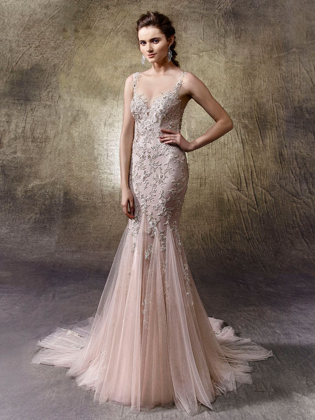 2017 enzoani linette front view 2017 enzoani collection wedding dresses out of enzoani linette collection enzoani silhouette mermaid trumpet neckline v neck without sleeves ombrellifo Choice Image