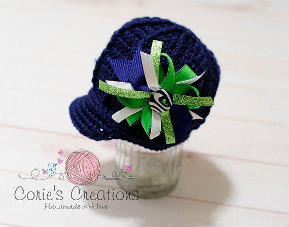 2813720fa5e Items similar to Crochet Seattle Seahawk Newsborn Hat - Seattle Seahawks