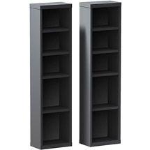 Walmart Sereni T 4 Shelf Modular Cd Dvd Storage Towers Set Of 2