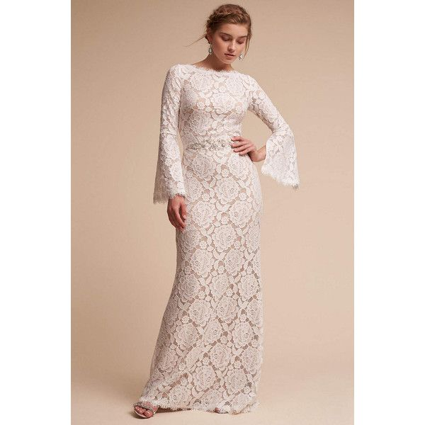 Anthropologie Wedding Gown: Anthropologie Foster Wedding Guest Dress ($550) Liked On