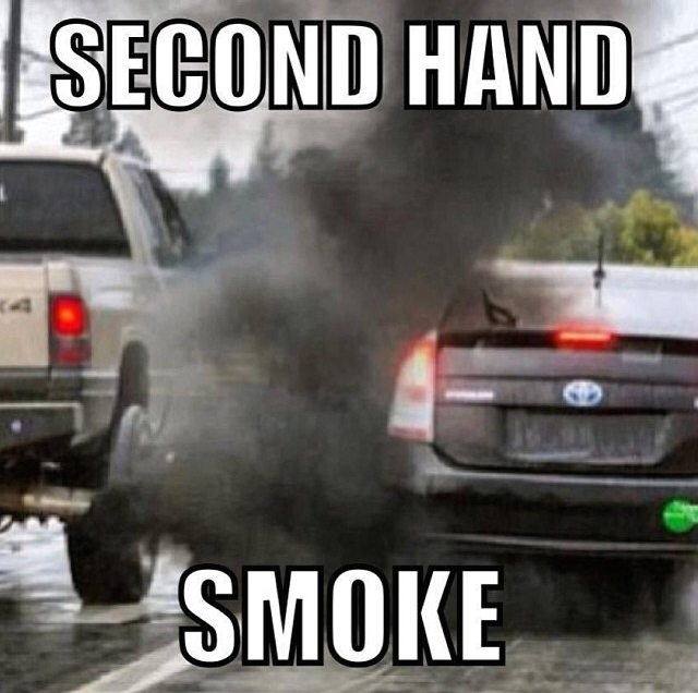 ff197c56f7eeedbd94e202c4bfd0ef71 second hand smoke, diesel vs prius memes pinterest memes,Prius Memes