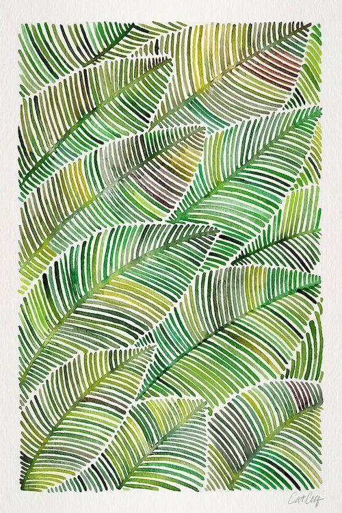 Tropical Leaves IV - Canvas Print