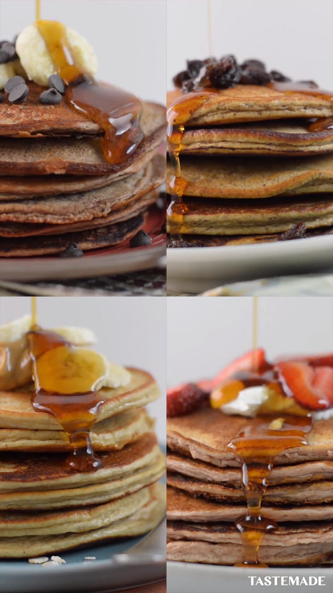 Protein Pancakes, 4 Ways