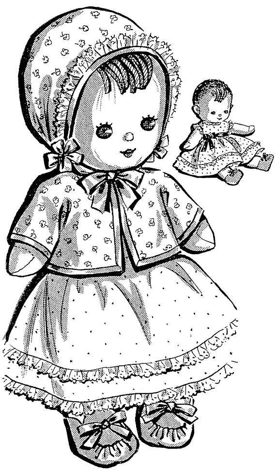 PDF Doll Pattern, Vintage Doll, Sock Doll, Soft Doll, Rag